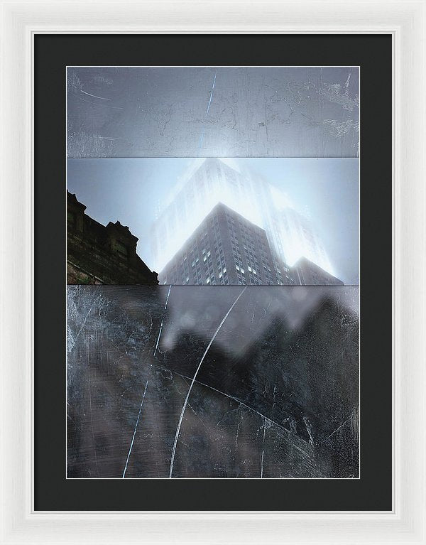 Empire State Fog - Framed Print - SEVENART STUDIO