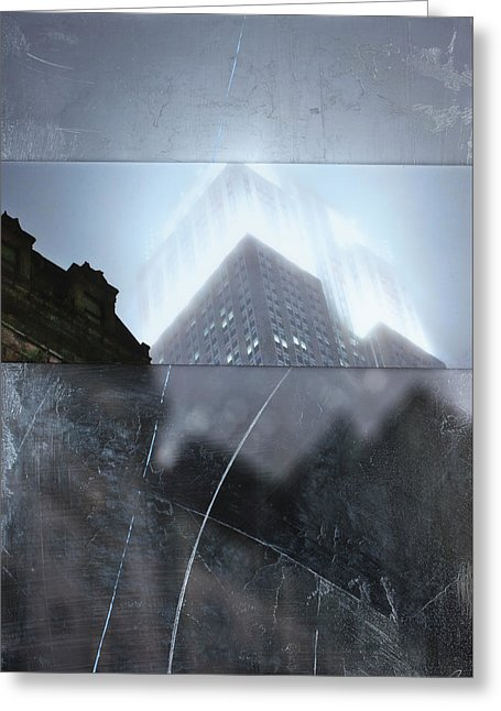Empire State Fog - Greeting Card - SEVENART STUDIO