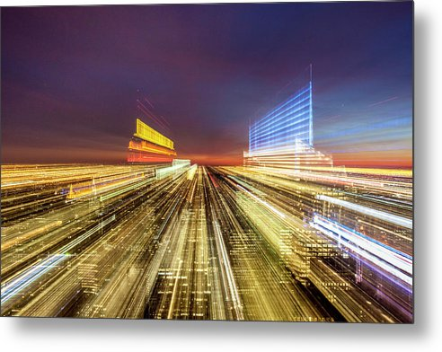 Flying Over New York  - Metal Print - SEVENART STUDIO