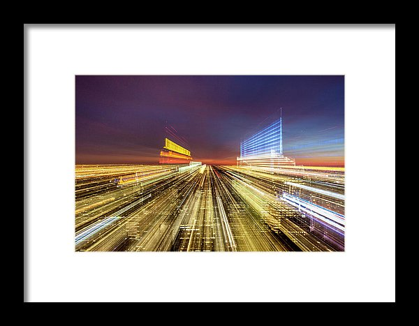 Flying Over New York  - Framed Print - SEVENART STUDIO