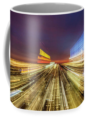 Flying Over New York  - Mug - SEVENART STUDIO