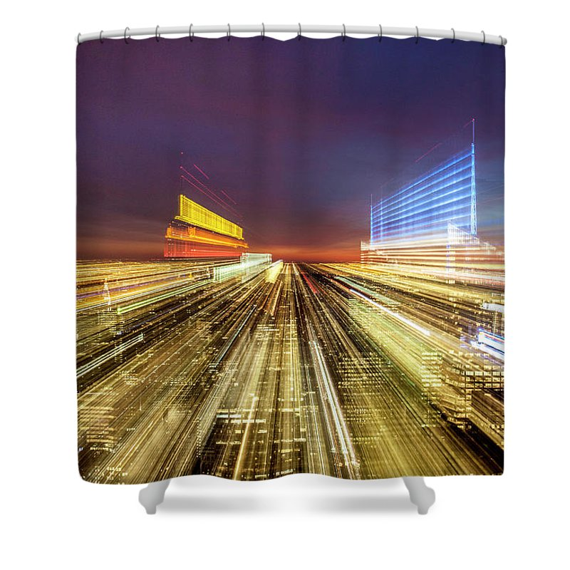 Flying Over New York  - Shower Curtain - SEVENART STUDIO