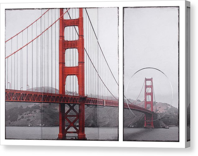 Golden Gate Red - Canvas Print - SEVENART STUDIO
