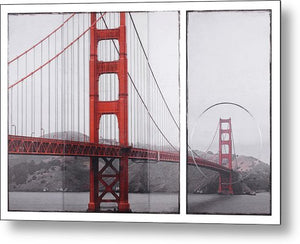 Golden Gate Red - Metal Print - SEVENART STUDIO
