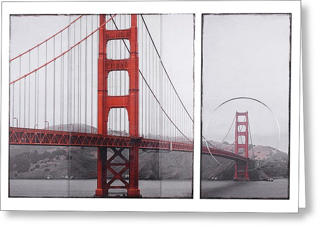 Golden Gate Red - Greeting Card - SEVENART STUDIO