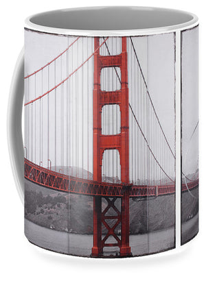 Golden Gate Red - Mug - SEVENART STUDIO