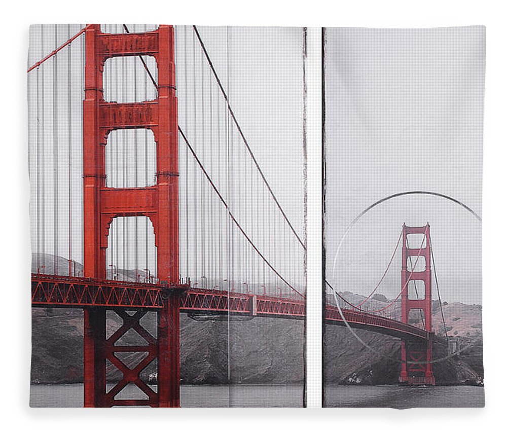 Golden Gate Red - Blanket - SEVENART STUDIO