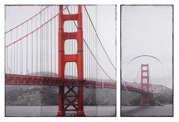 Golden Gate Red - Art Print - SEVENART STUDIO