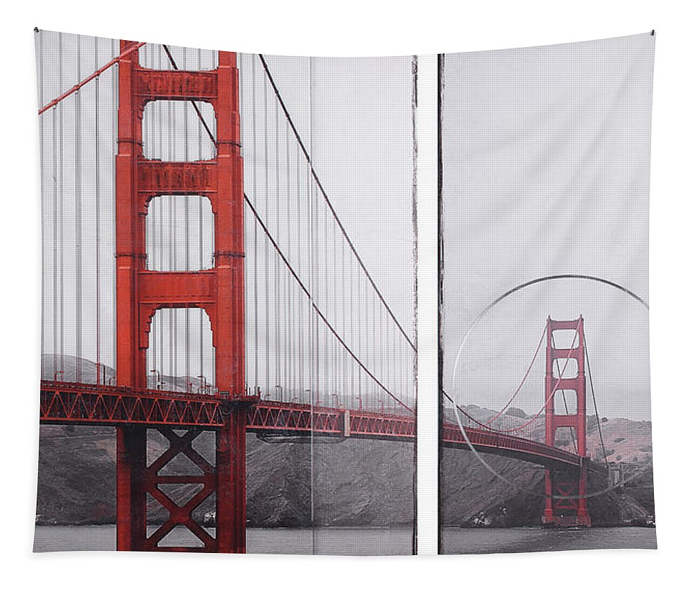 Golden Gate Red - Tapestry - SEVENART STUDIO