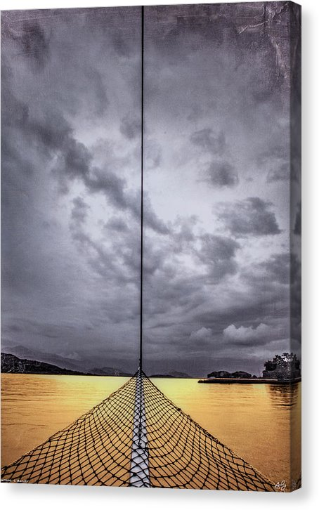 Golden Sail - Canvas Print - sevenart-studio