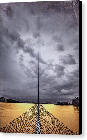 Golden Sail - Canvas Print - SEVENART STUDIO