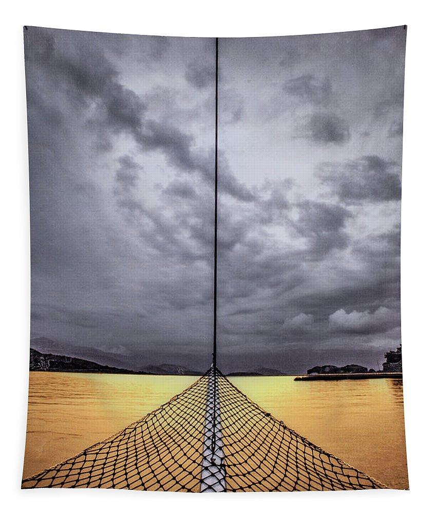 Golden Sail - Tapestry - SEVENART STUDIO