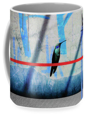 Humming Bird Grafitti - Mug - SEVENART STUDIO