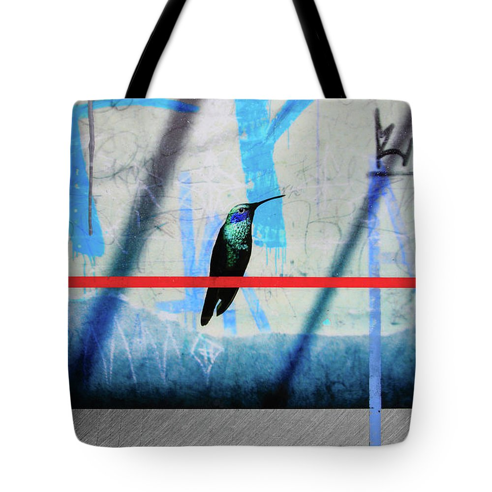 Humming Bird Grafitti - Tote Bag - SEVENART STUDIO