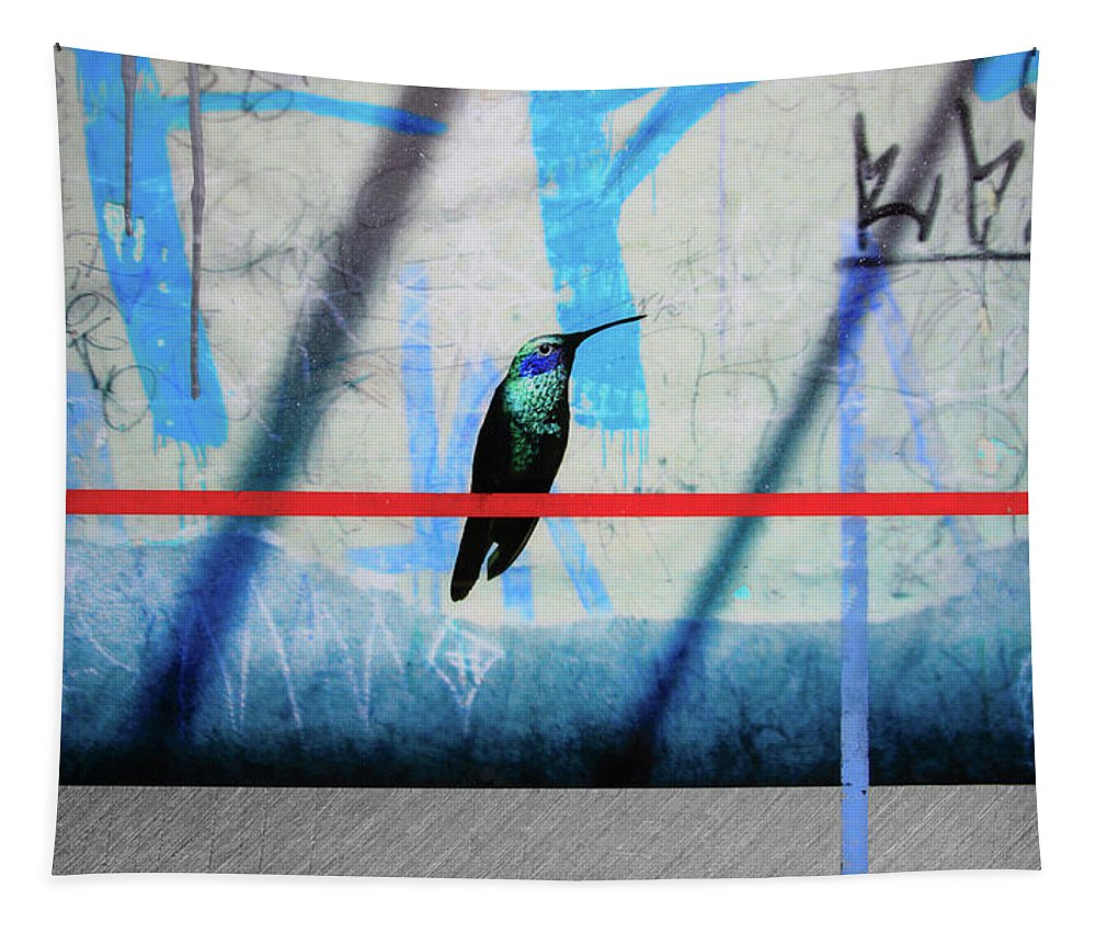 Humming Bird Grafitti - Tapestry - SEVENART STUDIO