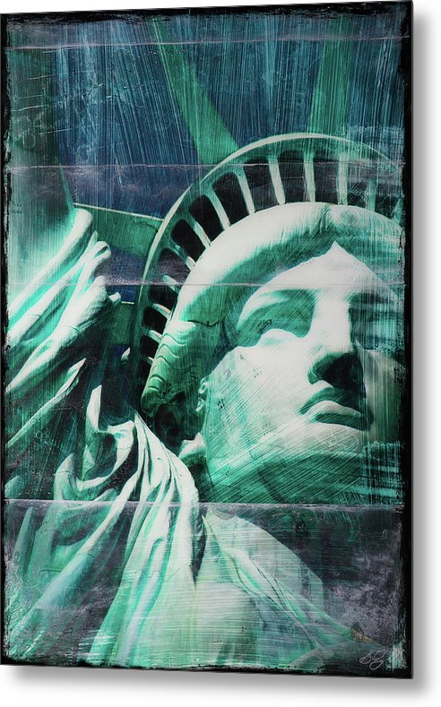 Lady Liberty - Metal Print - SEVENART STUDIO