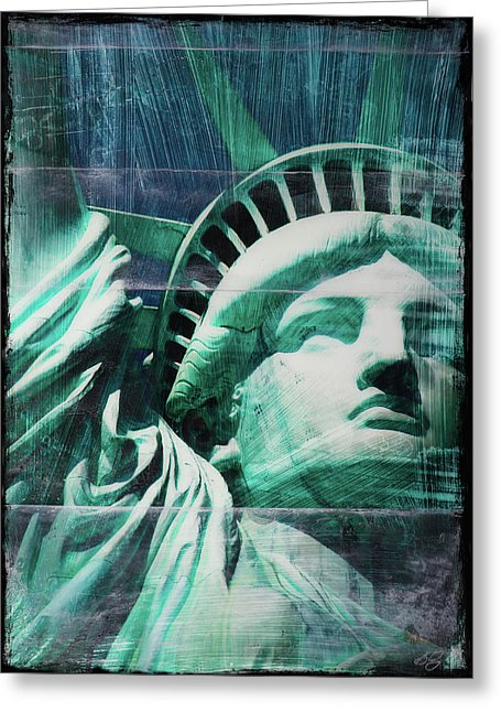 Lady Liberty - Greeting Card - SEVENART STUDIO