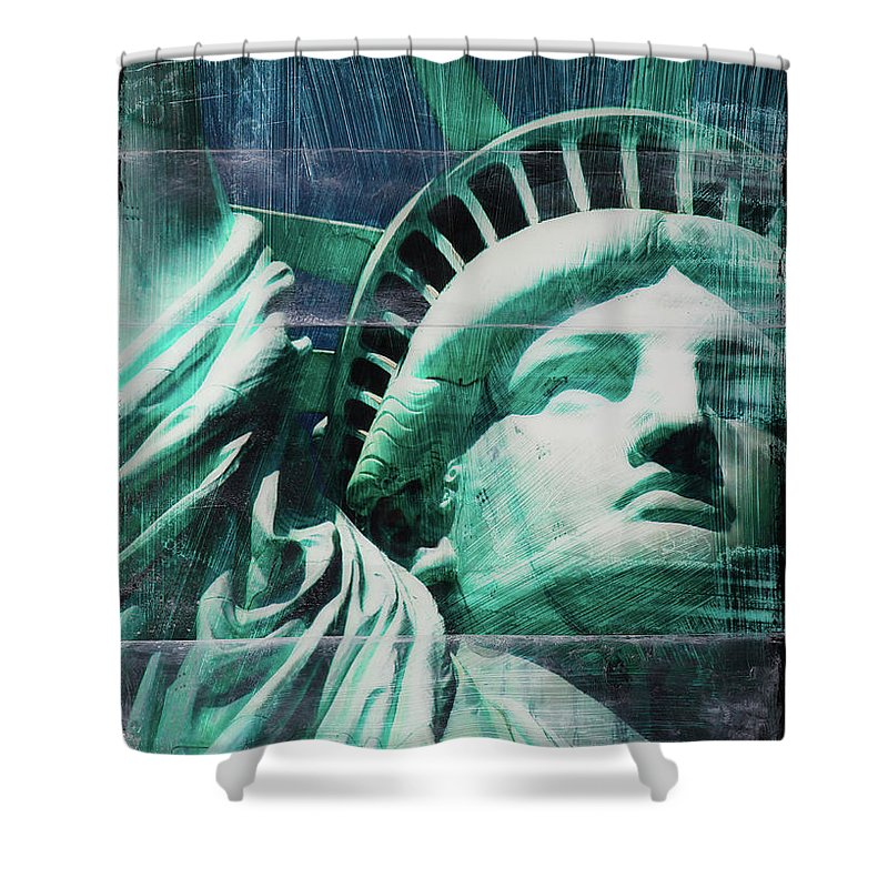 Lady Liberty - Shower Curtain - SEVENART STUDIO