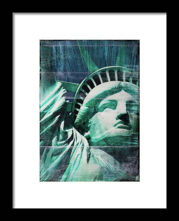 Lady Liberty - Framed Print - SEVENART STUDIO