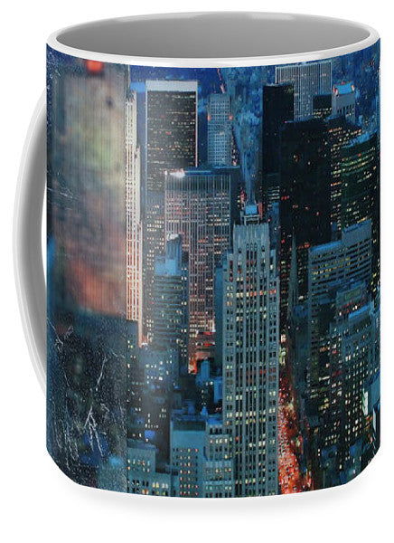 Manhattan At Night - Mug - SEVENART STUDIO