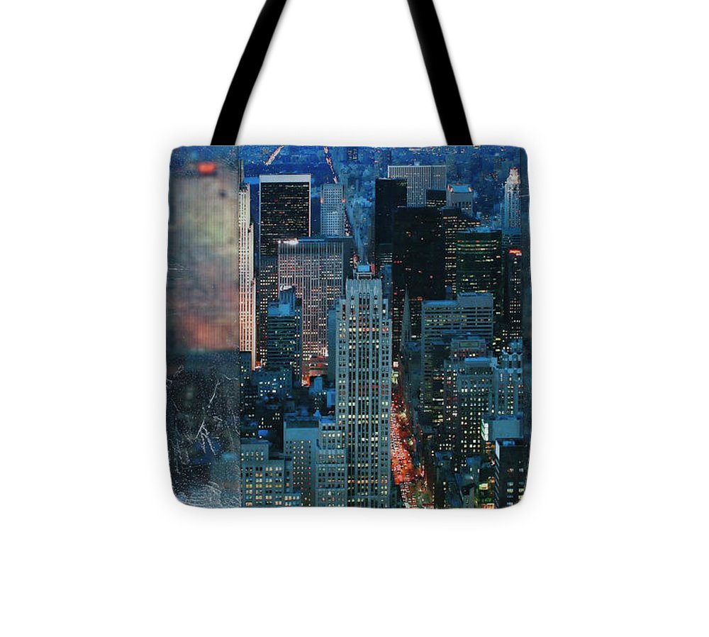 Manhattan At Night - Tote Bag - SEVENART STUDIO