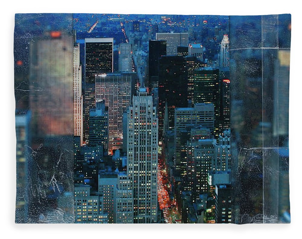 Manhattan At Night - Blanket - SEVENART STUDIO
