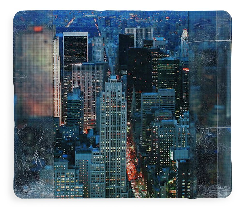 Manhattan At Night - Blanket - sevenart-studio