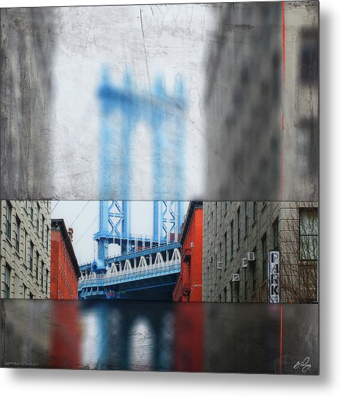 Manhattan Blur - Metal Print - SEVENART STUDIO
