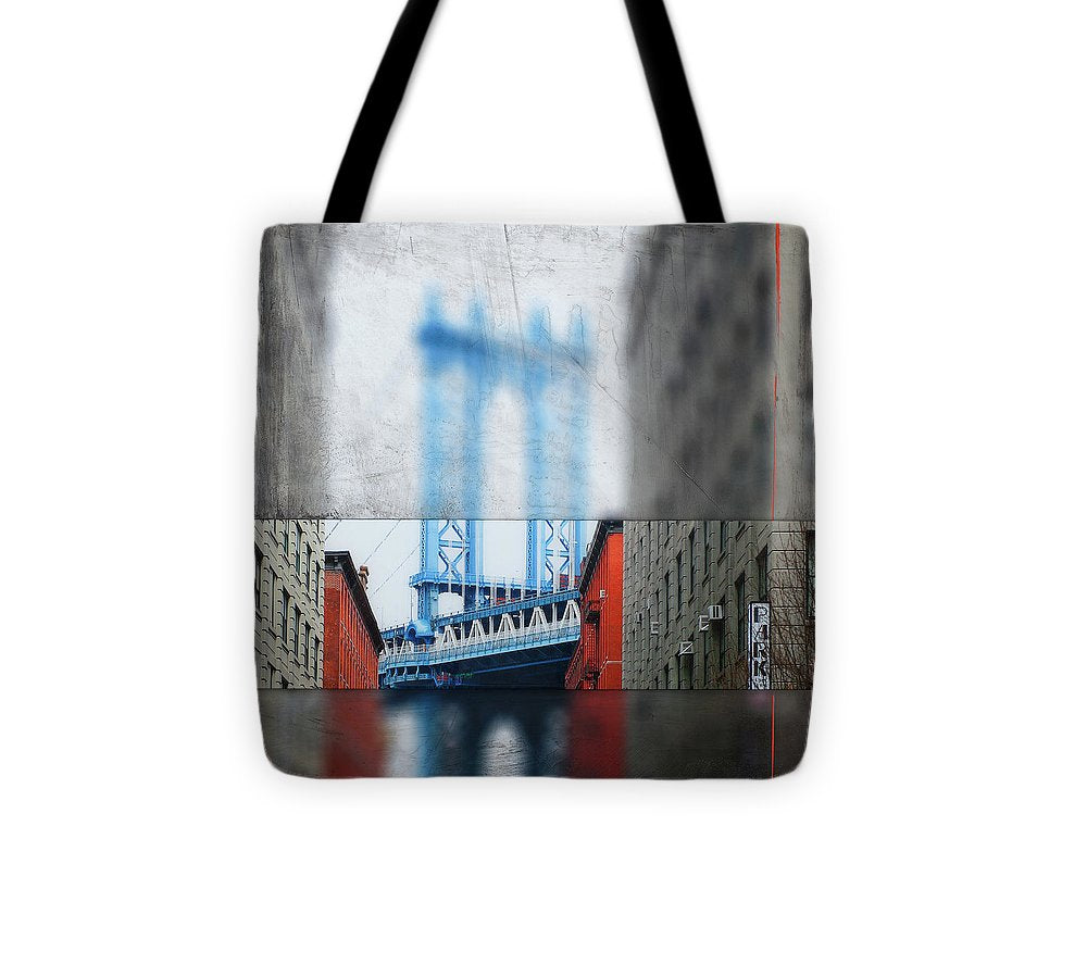 Manhattan Blur - Tote Bag - SEVENART STUDIO