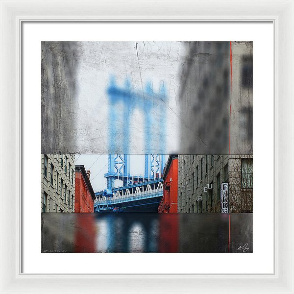 Manhattan Blur - Framed Print - SEVENART STUDIO