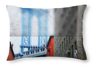 Manhattan Blur - Throw Pillow - SEVENART STUDIO