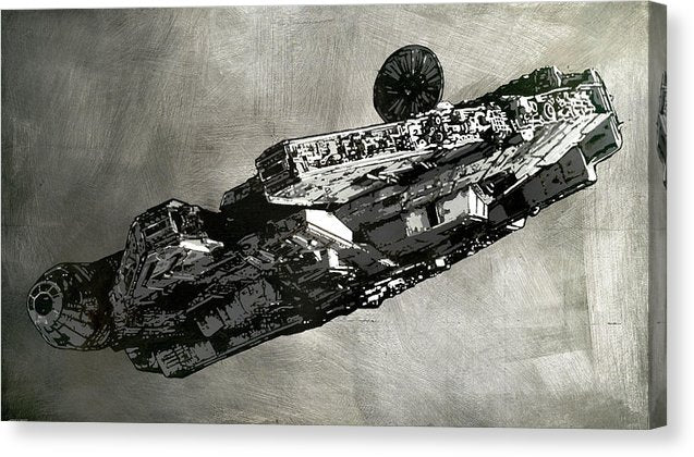 Millinneum Falcon - Canvas Print - SEVENART STUDIO