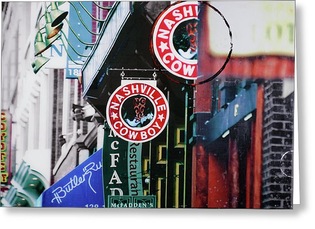 Nashville Cowboy - Greeting Card - SEVENART STUDIO