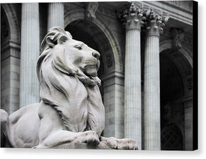 New York Lion - Canvas Print - SEVENART STUDIO
