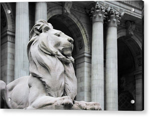 New York Lion - Acrylic Print - sevenart-studio