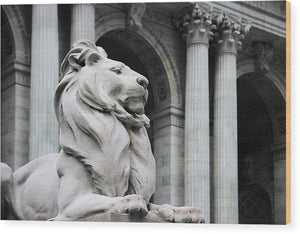 New York Lion - Wood Print - SEVENART STUDIO