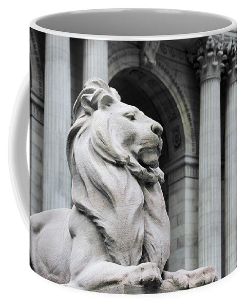 New York Lion - Mug - SEVENART STUDIO