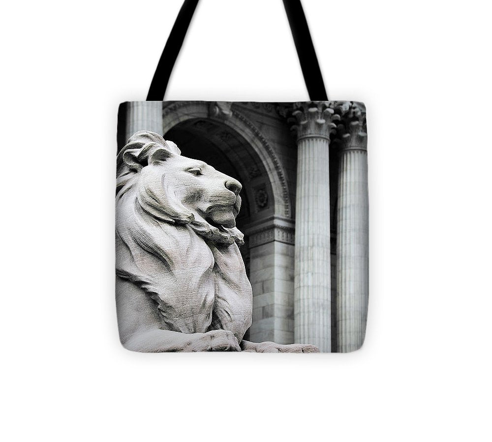 New York Lion - Tote Bag - SEVENART STUDIO