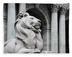 New York Lion - Blanket - SEVENART STUDIO