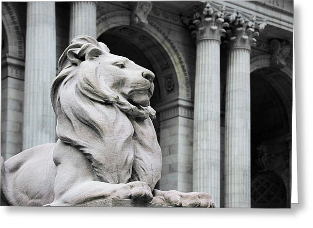 New York Lion - Greeting Card - SEVENART STUDIO