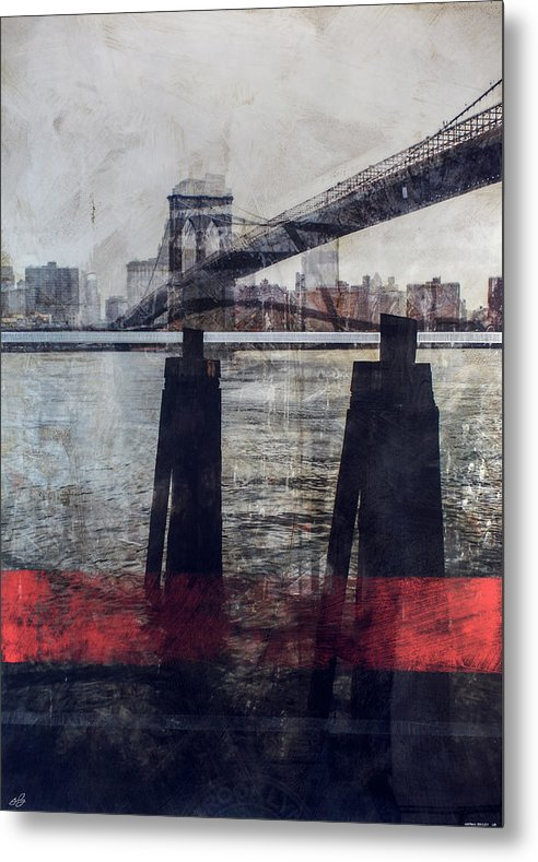 New York Pier - Metal Print - SEVENART STUDIO