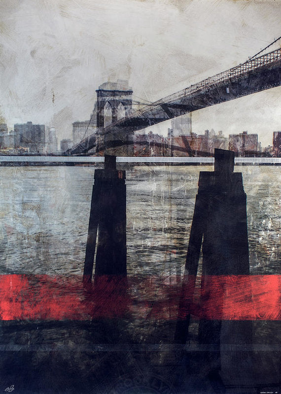 New York Pier - Art Print - SEVENART STUDIO