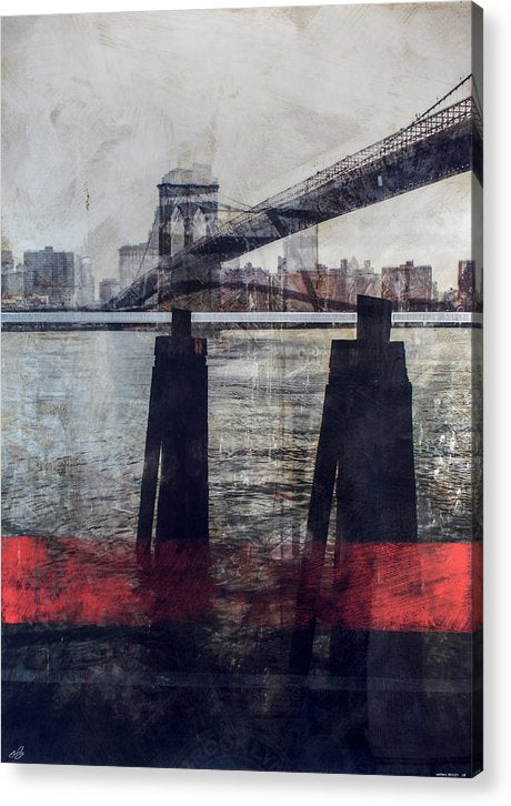 New York Pier - Acrylic Print - SEVENART STUDIO