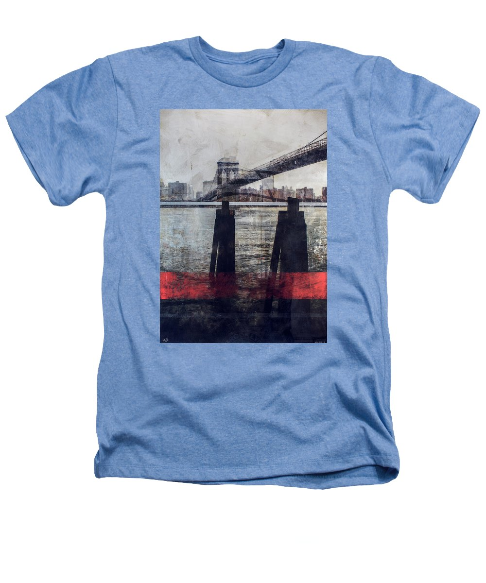 New York Pier - Heathers T-Shirt - sevenart-studio