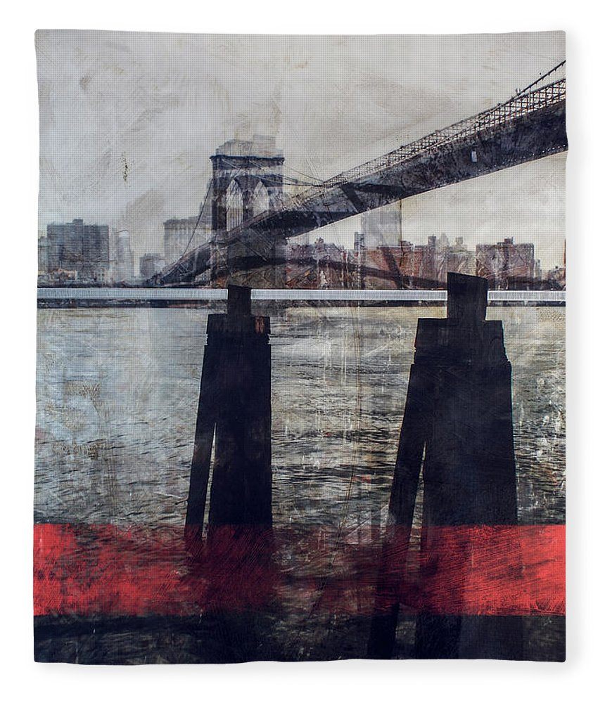 New York Pier - Blanket - SEVENART STUDIO