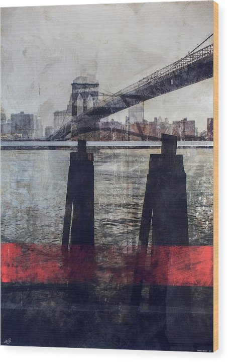 New York Pier - Wood Print - SEVENART STUDIO