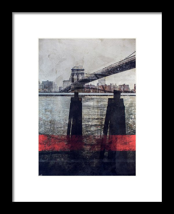 New York Pier - Framed Print - SEVENART STUDIO