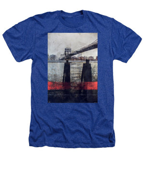 New York Pier - Heathers T-Shirt - SEVENART STUDIO