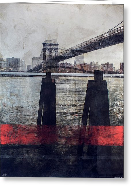 New York Pier - Greeting Card - SEVENART STUDIO