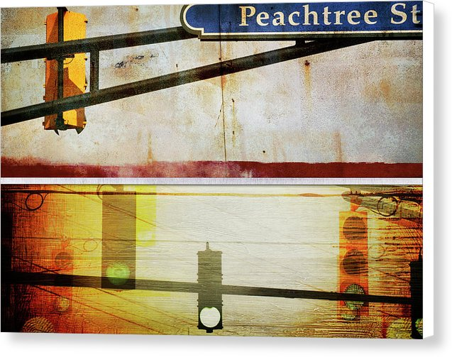 Peachtree Street - Canvas Print - SEVENART STUDIO